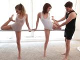 Přitažlivé baletky v trojce