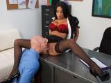 Sexy sekretářka na pracovním pohovoru