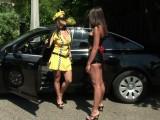 Lesbický sex s taxikářkou