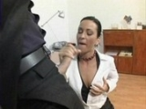 Prdelatá sekretářka Mandy Saxo šuká se svým šéfem