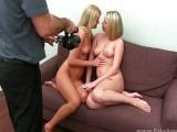 Dvě holky z Ruska na porno castingu