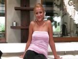 Atraktivní blondýnka ošukaná na porno castingu
