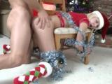 Vánoční mrdání spoutané dívky