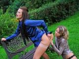 Perverzní lesby na zahradě